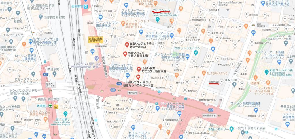新宿KIRARI地図